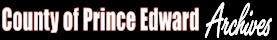 County of Prince Edward Archives logo